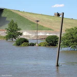 Des Moines River out of its banks
